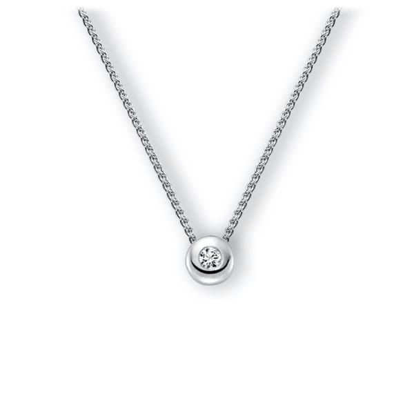 Collier in witgoud 14 kt. met in totaal 0,15 ct. Briljant tw,vs van Eternal Touch - E-3WJFK-WW5-1Z850Z
