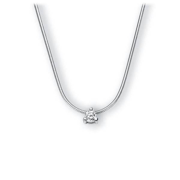 Collier in witgoud 14 kt. met in totaal 0,15 ct. Briljant tw,vs van Eternal Touch - E-3WK56-WW5-1Z84YZ
