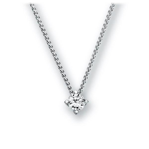 Collier in witgoud 14 kt. met in totaal 0,1 ct. Briljant tw,vs van Eternal Touch - E-2U7LH-WW5-1TT9DZ