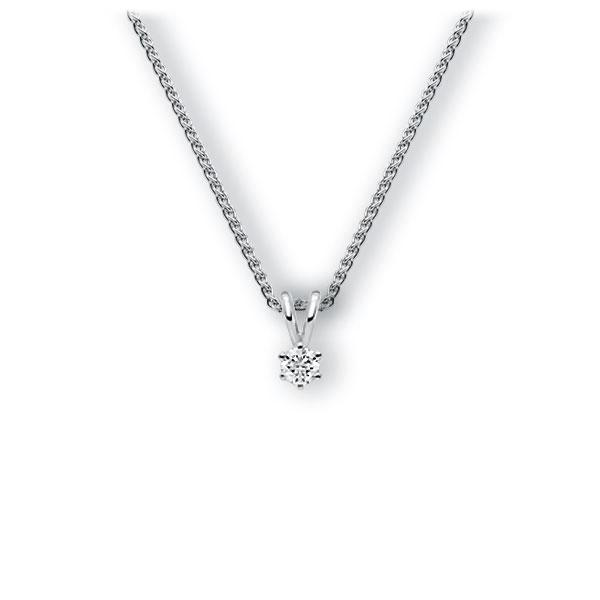 Collier in witgoud 14 kt. met in totaal 0,1 ct. Briljant tw,vs van Eternal Touch - E-3WJZL-WW5-1TMRBZ