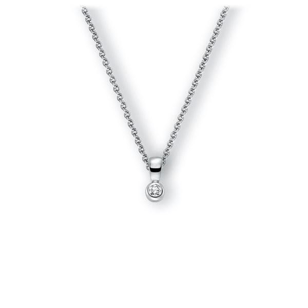 Collier in witgoud 14 kt. met in totaal 0,1 ct. Briljant tw,vs van Eternal Touch - E-3WK0B-WW5-1Z8K4Z