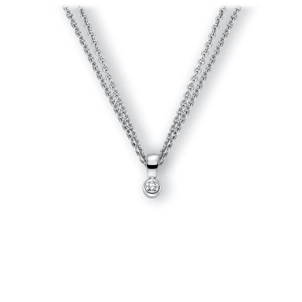 Collier in witgoud 14 kt. met in totaal 0,1 ct. Briljant tw,vs van Eternal Touch - E-3WK17-WW5-1Z8K4Z