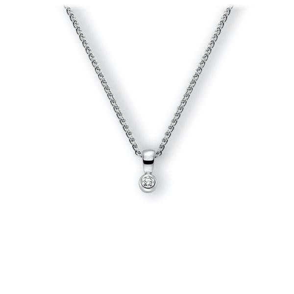 Collier in witgoud 14 kt. met in totaal 0,1 ct. Briljant tw,vs van Eternal Touch - E-3WK2Y-WW5-1Z8K4Z