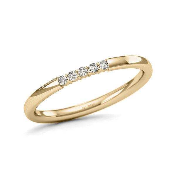 Memoire/Diamantenring in geelgoud 14 kt. met in totaal 0,075 ct. Briljant tw/si van acredo - A-11QEQU-G5-1T61TZZ