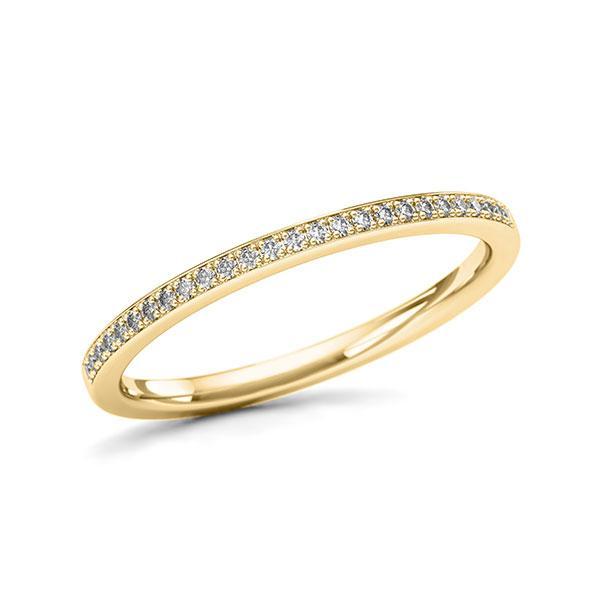 Memoire/Diamantenring in geelgoud 14 kt. met in totaal 0,097 ct. w,si - BD-12L14M-G5-1UFCIUZ