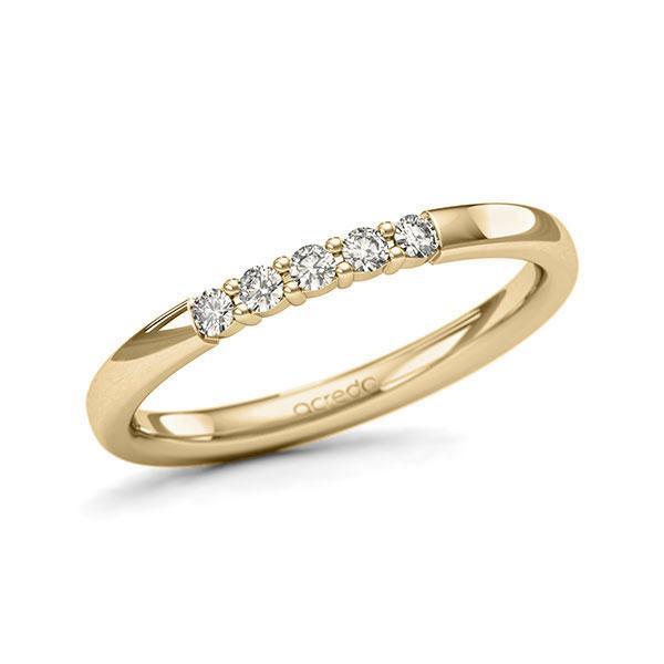 Memoire/Diamantenring in geelgoud 14 kt. met in totaal 0,15 ct. Briljant tw/si van acredo - A-11QEQZ-G5-2LHGVZ