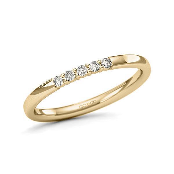 Memoire/Diamantenring in geelgoud 14 kt. met in totaal 0,1 ct. Briljant tw/si van acredo - A-11QEQX-G5-9QZ9RZ