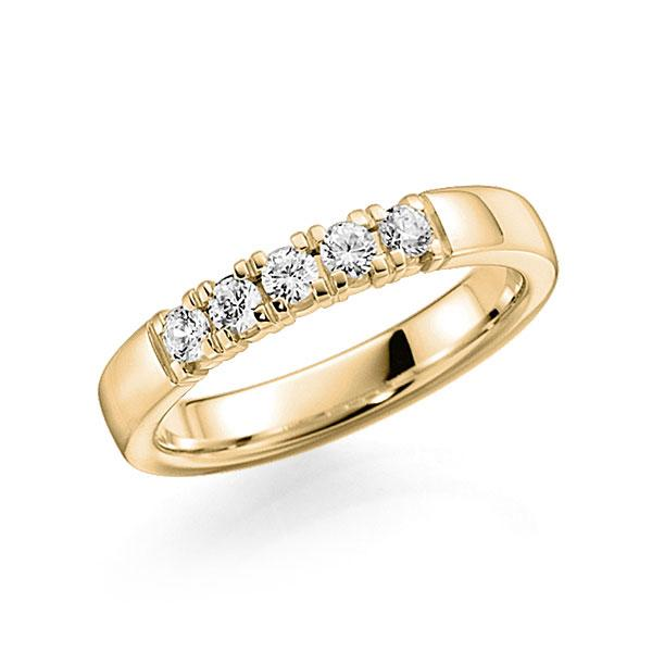 Memoire/Diamantenring in geelgoud 14 kt. met in totaal 0,3 ct. Briljant tw,vs van acredo - A-7INMB-G5-2LGKJZ