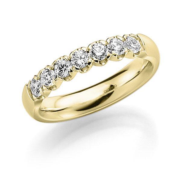 Memoire/Diamantenring in geelgoud 14 kt. met in totaal 0,49 ct. Briljant tw,vs van acredo - A-7X0QL-G5-2LGLPZ