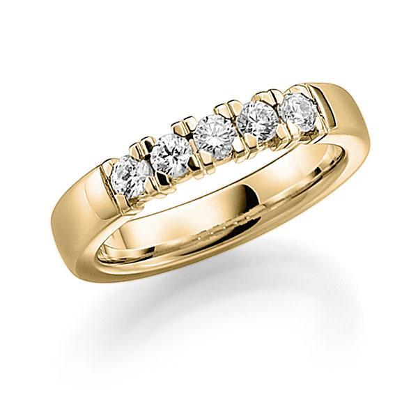 Memoire/Diamantenring in geelgoud 14 kt. met in totaal 0,5 ct. Briljant tw,vs van acredo - A-7INML-G5-2LGKEZ
