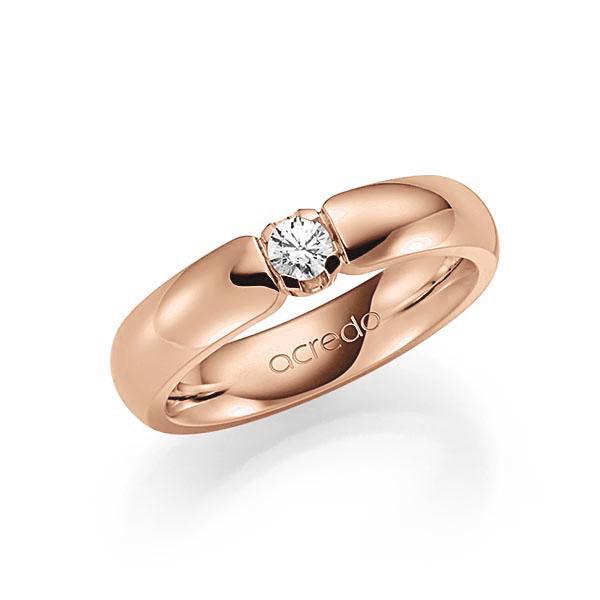 Memoire/Diamantenring in roodgoud 14 kt. met in totaal 0,15 ct. Briljant tw,vs van acredo - A-7X161-R5-1TXE9Z