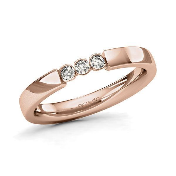 Memoire/Diamantenring in roodgoud 14 kt. met in totaal 0,15 ct. Briljant tw/si van acredo - A-11MIX9-R5-2LHGNZ