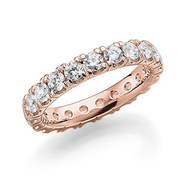 Memoire/Diamantenring in roodgoud 14 kt. volledig gezet met in totaal 2,31 ct. Briljant tw,vs van acredo - A-7ILIW-R5-2LHI3Z