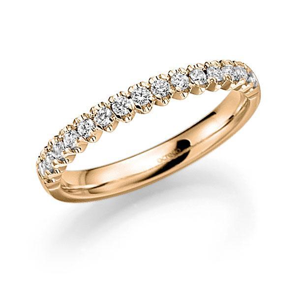 Memoire/Diamantenring in roségoud 14 kt. half gezet met in totaal 0,48 ct. Briljant tw,vs van acredo - A-7X501-E5-97SBLZ