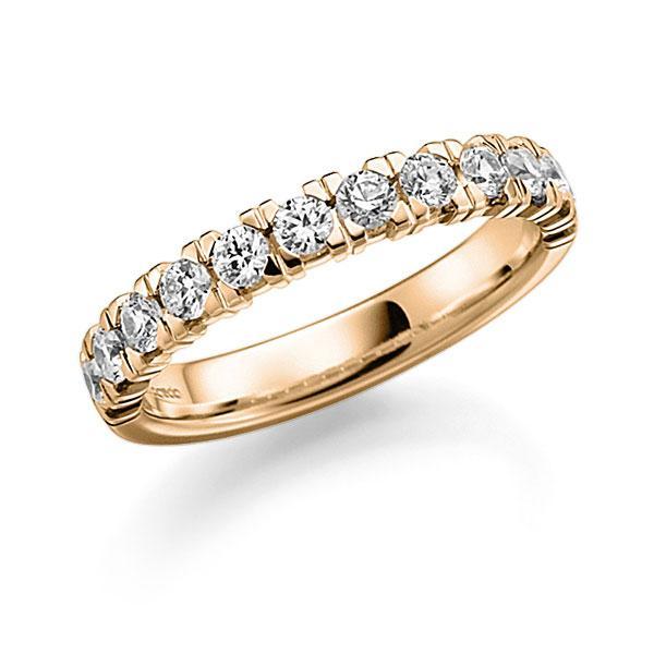 Memoire/Diamantenring in roségoud 14 kt. half gezet met in totaal 0,84 ct. Briljant tw,vs van acredo - A-7IP46-E5-9T1V1Z