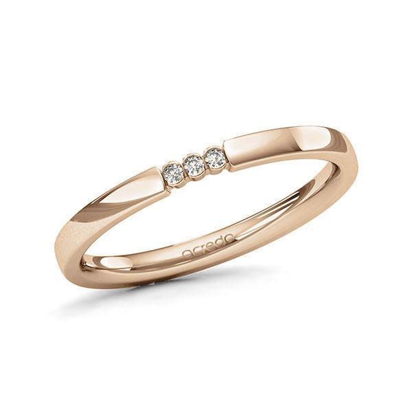 Memoire/Diamantenring in roségoud 14 kt. met in totaal 0,03 ct. Briljant tw/si van acredo - A-11MIVA-E5-1T61FEZ