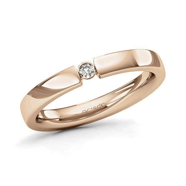 Memoire/Diamantenring in roségoud 14 kt. met in totaal 0,05 ct. Briljant tw/si van acredo - A-11MIUQ-E5-8XRM1Z