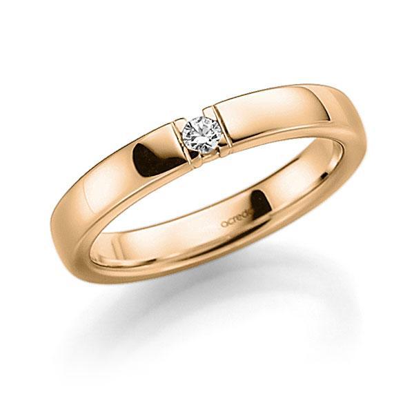 Memoire/Diamantenring in roségoud 14 kt. met in totaal 0,06 ct. Briljant tw,vs van acredo - A-7IP31-E5-8Y0G6Z