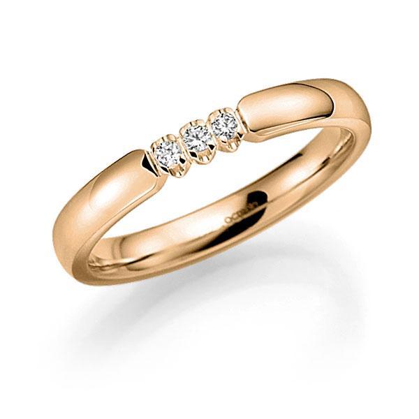 Memoire/Diamantenring in roségoud 14 kt. met in totaal 0,09 ct. Briljant tw,vs van acredo - A-7X116-E5-97SDBZ