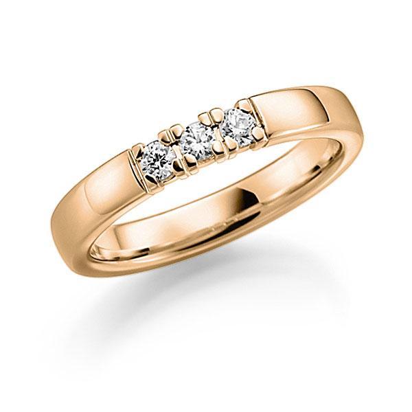 Memoire/Diamantenring in roségoud 14 kt. met in totaal 0,21 ct. Briljant tw,vs van acredo - A-7Y8TW-E5-8XDQ1Z