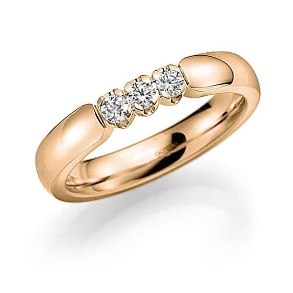 Memoire/Diamantenring in roségoud 14 kt. met in totaal 0,24 ct. Briljant tw,vs van acredo - A-7X53G-E5-9RE1BZ