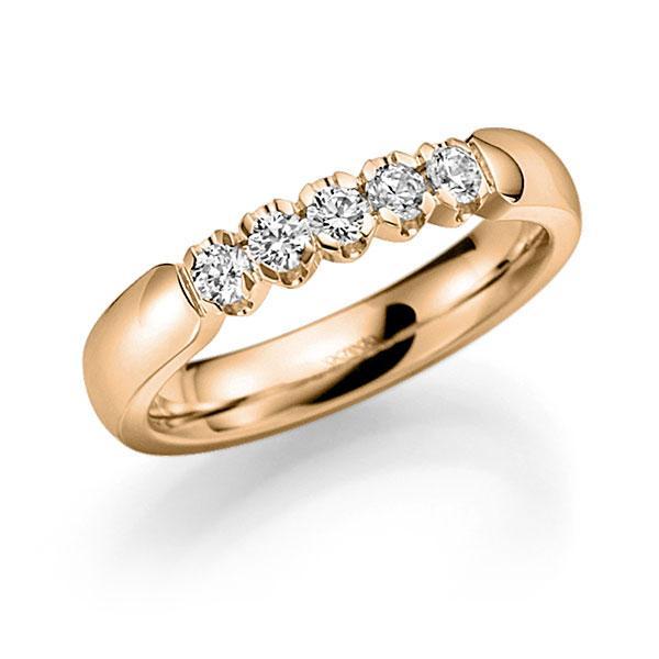 Memoire/Diamantenring in roségoud 14 kt. met in totaal 0,35 ct. Briljant tw,vs van acredo - A-7X141-E5-8XDQBZ
