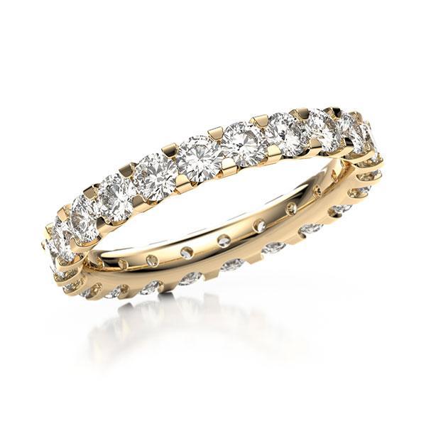 Memoire/Diamantenring in roségoud 14 kt. volledig gezet met in totaal 2,07 ct. Briljant tw,vs van acredo - A-10LFK9-E5-2LGFLZ