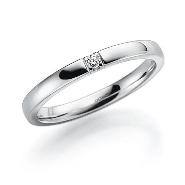 Memoire/Diamantenring in witgoud 14 kt. met in totaal 0,03 ct. Briljant tw,vs van acredo - A-7ILJ6-W5-2LHHYZ