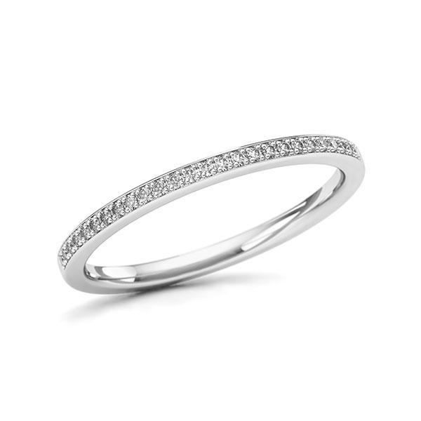 Memoire/Diamantenring in witgoud 14 kt. met in totaal 0,097 ct. w,si - BD-11Z9QI-W5-1UFCIUZ
