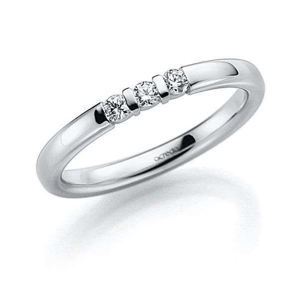 Memoire/Diamantenring in witgoud 14 kt. met in totaal 0,09 ct. Briljant tw,vs van acredo - A-7J1AR-W5-2LGI7Z