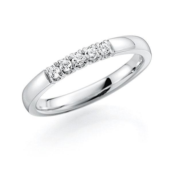 Memoire/Diamantenring in witgoud 14 kt. met in totaal 0,15 ct. Briljant tw,vs van acredo - A-7ILCW-W5-2LHE6Z