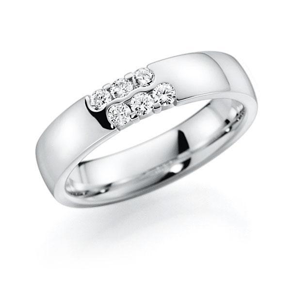 Memoire/Diamantenring in witgoud 14 kt. met in totaal 0,24 ct. Briljant tw,vs van acredo - A-7I33R-W5-2LHG3Z