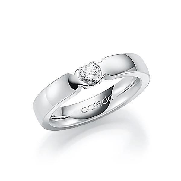 Memoire/Diamantenring in witgoud 14 kt. met in totaal 0,25 ct. Briljant tw,vs van acredo - A-7J06W-W5-2LGIXZ