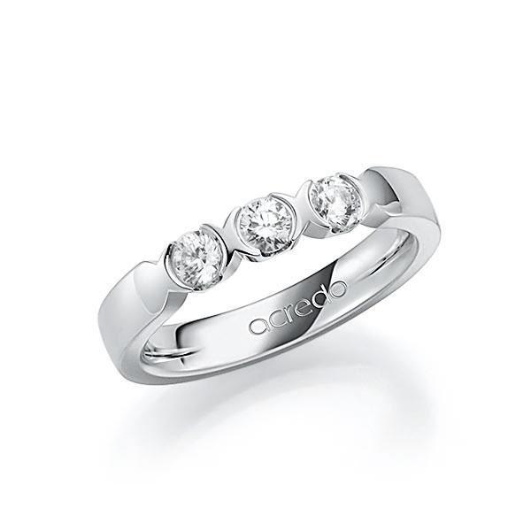 Memoire/Diamantenring in witgoud 14 kt. met in totaal 0,45 ct. Briljant tw,vs van acredo - A-SL91B-W5-1C8411Z