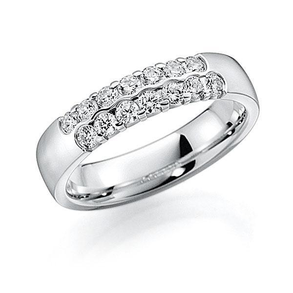 Memoire/Diamantenring in witgoud 14 kt. met in totaal 0,56 ct. Briljant tw,vs van acredo - A-7ILCL-W5-2LHGBZ