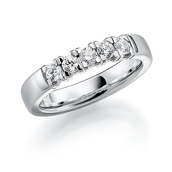 Memoire/Diamantenring in witgoud 14 kt. met in totaal 0,5 ct. Briljant tw,vs van acredo - A-7INPB-W5-2LGKEZ