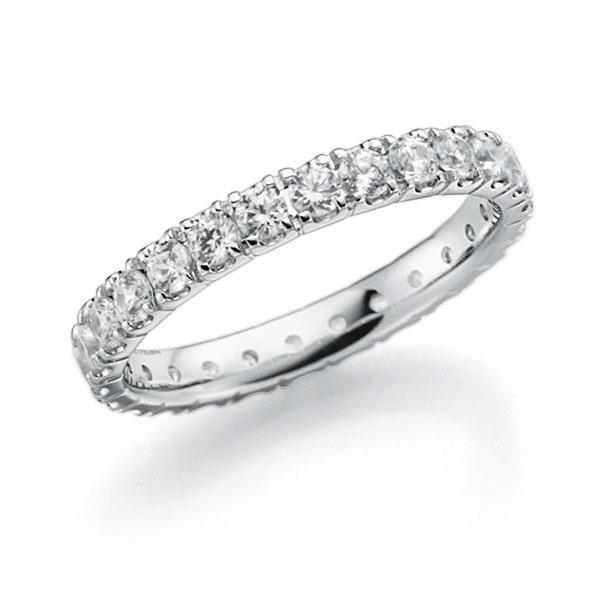 Memoire/Diamantenring in witgoud 14 kt. volledig gezet met in totaal 1,3 ct. Briljant tw,vs van acredo - A-7ILJG-W5-2LHHZZ