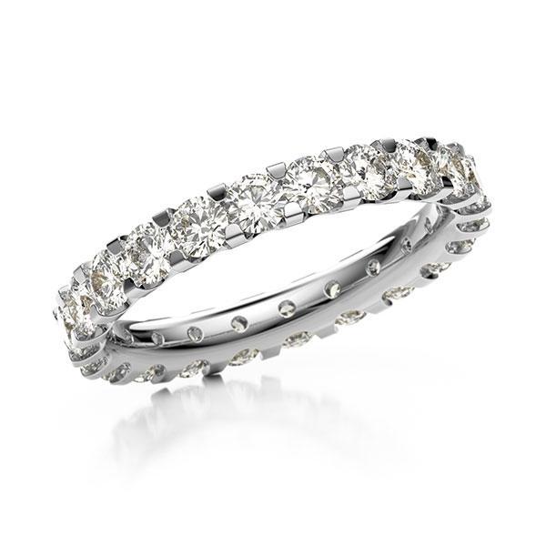 Memoire/Diamantenring in witgoud 14 kt. volledig gezet met in totaal 2,07 ct. Briljant tw,vs van acredo - A-10LAFP-W5-2LGFLZ
