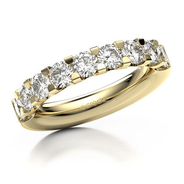 Memoire/Diamantring in Gelbgold 585 halbausgefasst mit 8x 0,3 ct. Brillant tw, vs von acredo - A-10L341-G5-1IVNMWZ