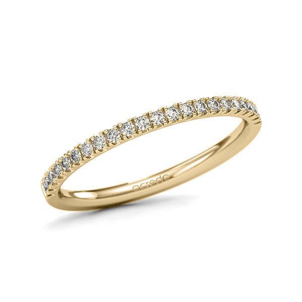 Memoire/Diamantring in Gelbgold 585 halbausgefasst mit zus. 0,22 ct. Brillant tw, si von acredo - A-1124L4-G5-1SYRISZ