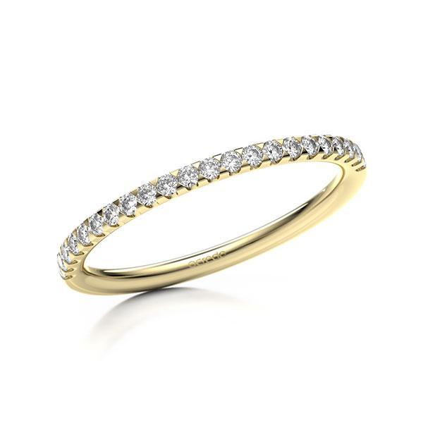 Memoire/Diamantring in Gelbgold 585 halbausgefasst mit zus. 0,22 ct. Brillant tw, si von acredo - A-11M07B-G5-1SYRISZ