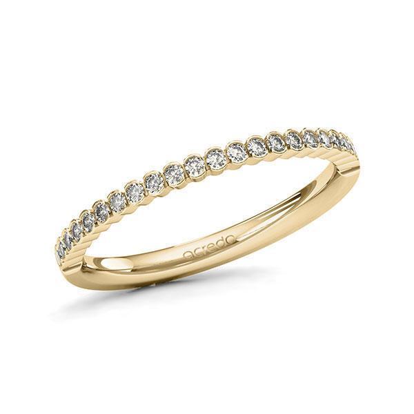 Memoire/Diamantring in Gelbgold 585 halbausgefasst mit zus. 0,24 ct. Brillant tw, si von acredo - A-11EID2-G5-1SYRKFZ