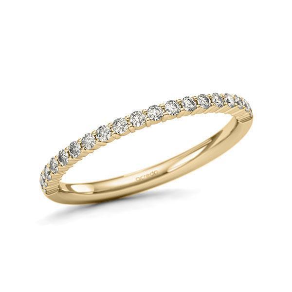 Memoire/Diamantring in Gelbgold 585 halbausgefasst mit zus. 0,285 ct. Brillant tw, si von acredo - A-11QERE-G5-1U0KQXZ