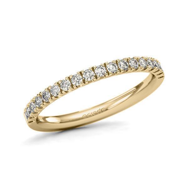 Memoire/Diamantring in Gelbgold 585 halbausgefasst mit zus. 0,36 ct. Brillant tw, si von acredo - A-11QGI9-G5-1U0KQYZ
