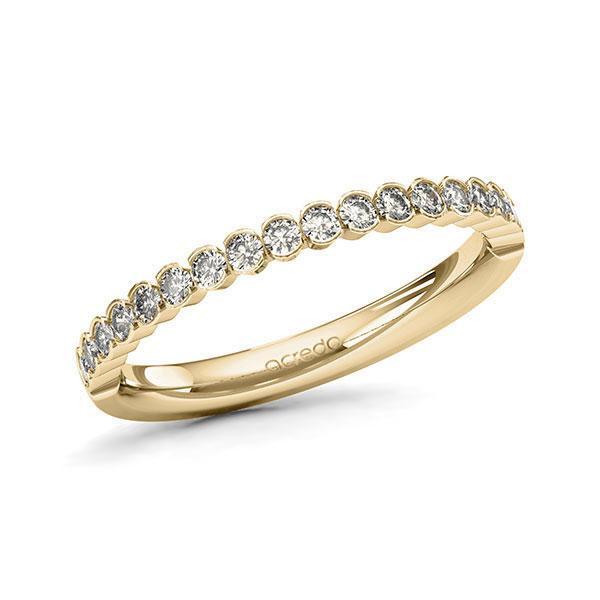 Memoire/Diamantring in Gelbgold 585 halbausgefasst mit zus. 0,38 ct. Brillant tw, si von acredo - A-11EIDE-G5-1T041JZ