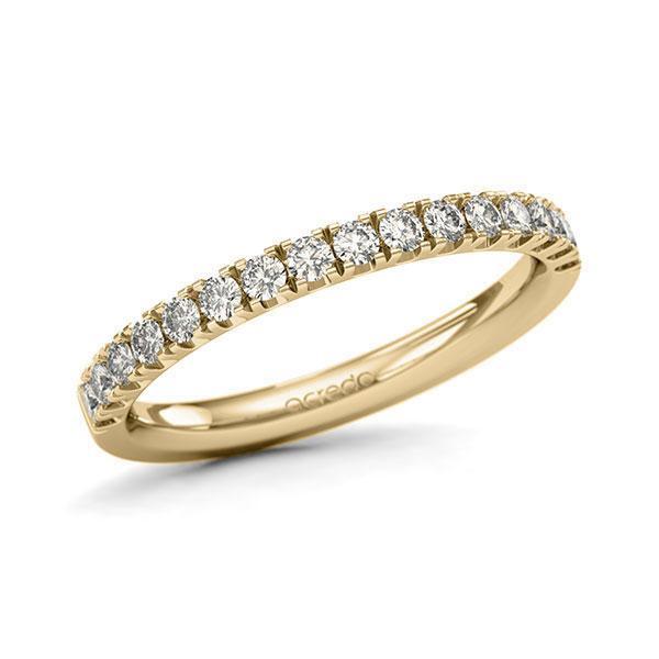 Memoire/Diamantring in Gelbgold 585 halbausgefasst mit zus. 0,48 ct. Brillant tw, si von acredo - A-11QGIB-G5-1U0LI0Z