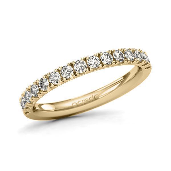 Memoire/Diamantring in Gelbgold 585 halbausgefasst mit zus. 0,6 ct. Brillant tw, si von acredo - A-11QGIC-G5-1U0LI1Z