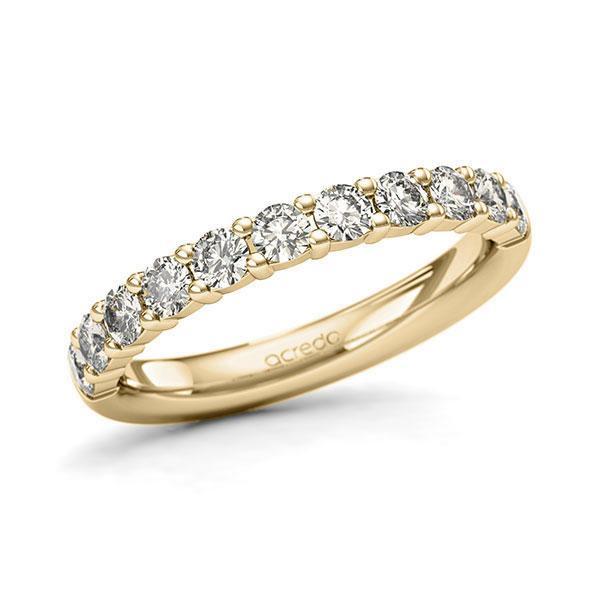 Memoire/Diamantring in Gelbgold 585 halbausgefasst mit zus. 0,77 ct. Brillant tw, si von acredo - A-127N29-G5-1Q8AUVZ