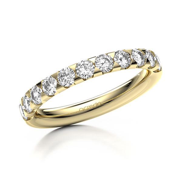 Memoire/Diamantring in Gelbgold 585 halbausgefasst mit zus. 0,88 ct. Brillant tw, si von acredo - A-1270GY-G5-9T98BZ
