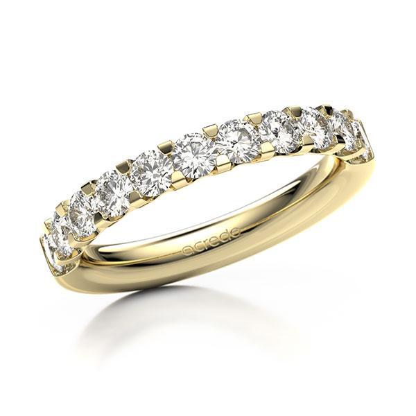 Memoire/Diamantring in Gelbgold 585 halbausgefasst mit zus. 1,08 ct. Brillant tw, vs von acredo - A-10L7D4-G5-ADUALZ